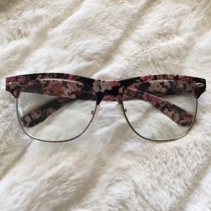 Floral Clear Glasses